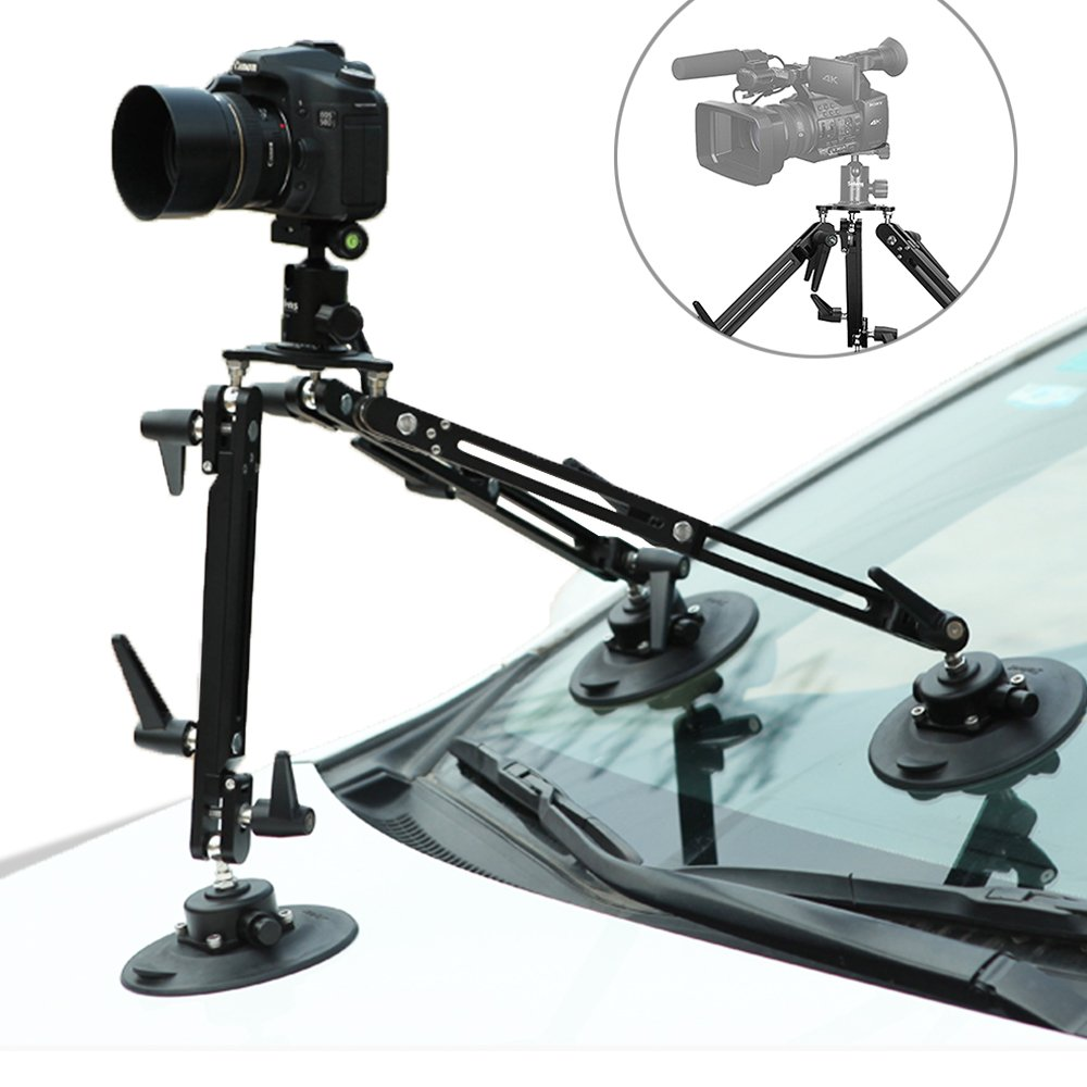 Selens Kaikoura SK1 Professional Gripper Car Suction Cup Camera Mount System for Moving Vehicle Photography Videography Equipment by Selens