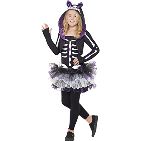 Traje esqueleto de gato disfraz Halloween animal hueso