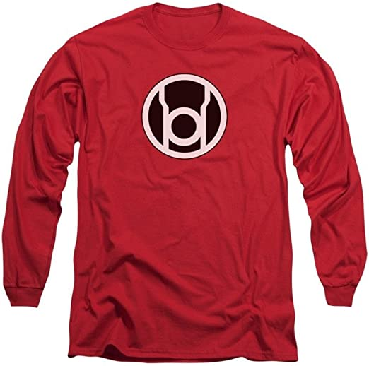 Green Lantern RED LANTERN LOGO Licensed Adult T-Shirt All Sizes
