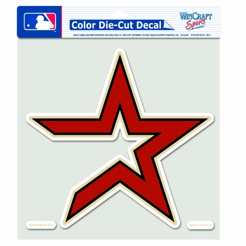 MLB Houston Astros 8-by-8 Inch Diecut Colored Decal