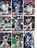 New York Yankees / Complete 2018 Topps Series 1 Baseball 17 Card Team Set! Includes 25 bonus Yankees Cards!