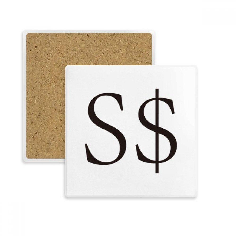 Amazon Currency Symbol Singapore Dollar Square Coaster Cup Mug