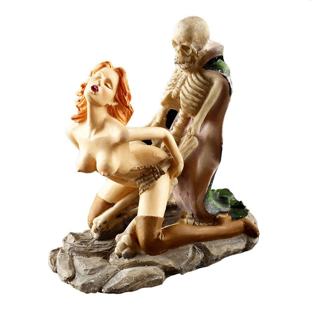 SIKOO Nude Women Funny Dracula Lover Skulls Sexy Statues Adult Ceremony Skull  Ornaments Home Bar Decorations Polyresin(Sexy2) by SIKOO (Image #1)