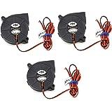 Lezed 3 Pcs DC 12V Fan for 3D Printer 3D Cooling Blower Fan Mini Quiet Cooling Fan DIY 3D Printer Cooling Fan Cooler Heatsink Fan Accessories Turbo Fan Blower Cooling Fan 5015 DC 50 * 50 * 15mm