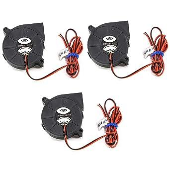 Lezed 3Pcs Ventiladores de Impresora 3D 5015 Ventilador de ...