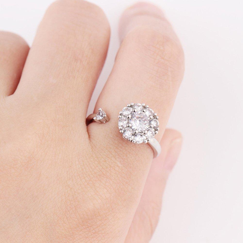 Amazon.com: GOWOW Adjustable Wedding Promise Ring sizer Turnable ...