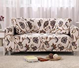 YJBear 1 PC Ethnic Sofa Covers Polyester Spandex Stretch Slipcover Slip Resistant Furniture Protector for Chair Loveseat Sofa Protector Shield, Classical Pattern,35.43''-55.12''(Chair)