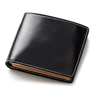 ef11e3c6da49 ブリティッシュグリーン 二つ折り財布 英国伝統のブライドルレザー 牛革 本革 NEWモデル メンズ