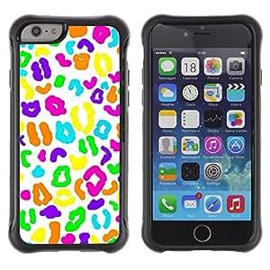 LASTONE PHONE CASE / Suave Silicona Caso Carcasa de Caucho Funda para Apple Iphone 6 PLUS 5.5 / Candy White Biology Pattern