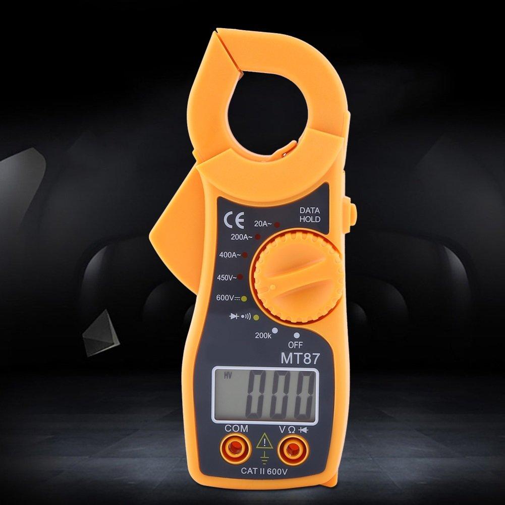 delaman multimetro digitale Clamp con data hold Function Pinza amperometrica pinzette AC//DC Corrente Tensione tester Schermo LCD