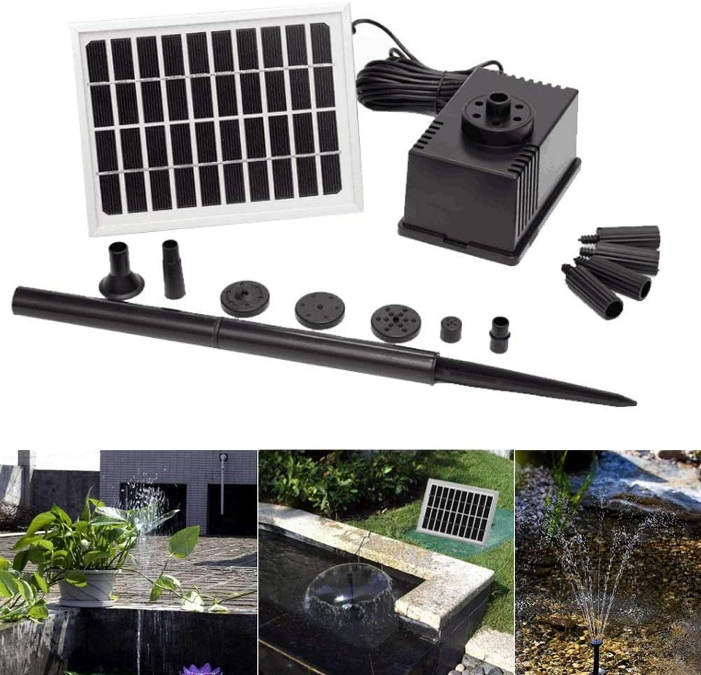 MJLXY Bomba de Agua de Energía Solar para Piscina Jardín Fuentes 2W 180L / H Altura 80cm: Amazon.es: Deportes y aire libre