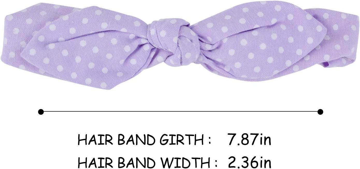 Zoylink 9 Pack Bowknot Diadema Polka Dot Hair Band Accesorios para beb/és