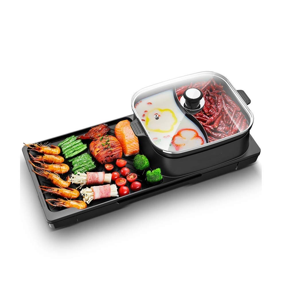 Atten Household Pot Barbecue One-piece Pot Less Smoke Barbecue Meat Dish Electric Grill Non-stick Barbecue Machine Multi-person Dining
