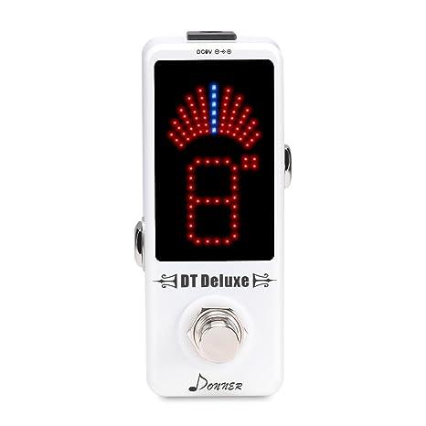 Afinador de pedal de guitarra Donner DT Deluxe, precisión ± ...