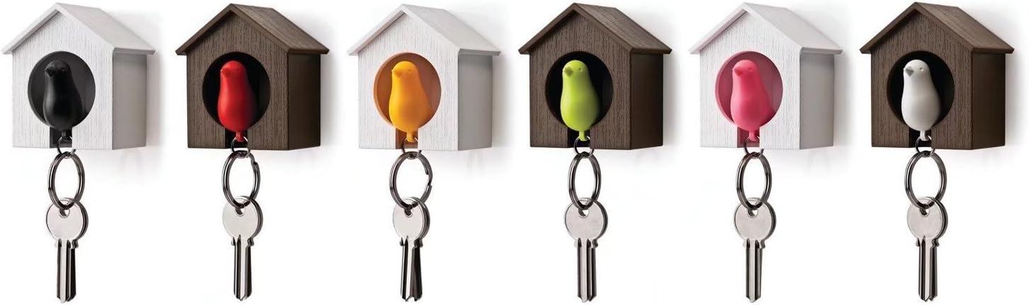 Schl/üsselhalter Whistle/ /Multicolor ricsung Holz Bird House Sparrow Key Ring