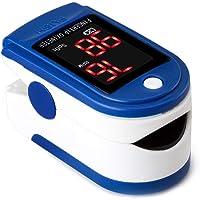 Oxímetro de Pulso de Dedo, Monitor de saturación de O2 Monitor,LED Monitor de frecuencia cardíaca Electrónica médica Oxímetro de Pulso de Dedo, Oxímetro De Pulso,oximetros de Dedo, frecuencia respiratoria con Pantalla OLED, Oxigenación Sangre y Frecuencia Corazón Operación con un Solo botón …