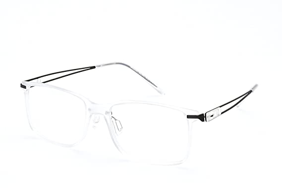 Amazon.com: Charm Classic Style Rectangle Eyeglasses Frame Clear ...