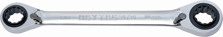 Argent Heytec 50730091583 Cl/é polygonale /à cliquet 9//11-14//15 mm