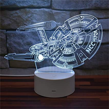 Illusion Star 1701 Acrylic Led Ncc 3d Trek Starship Usb Enterprise F5l13KuTJc