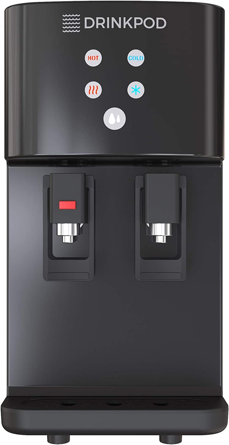 Bottleless Water Cooler Countertop Water Dispenser Hot & Cold Modes For Offices and Homes (BLACK)