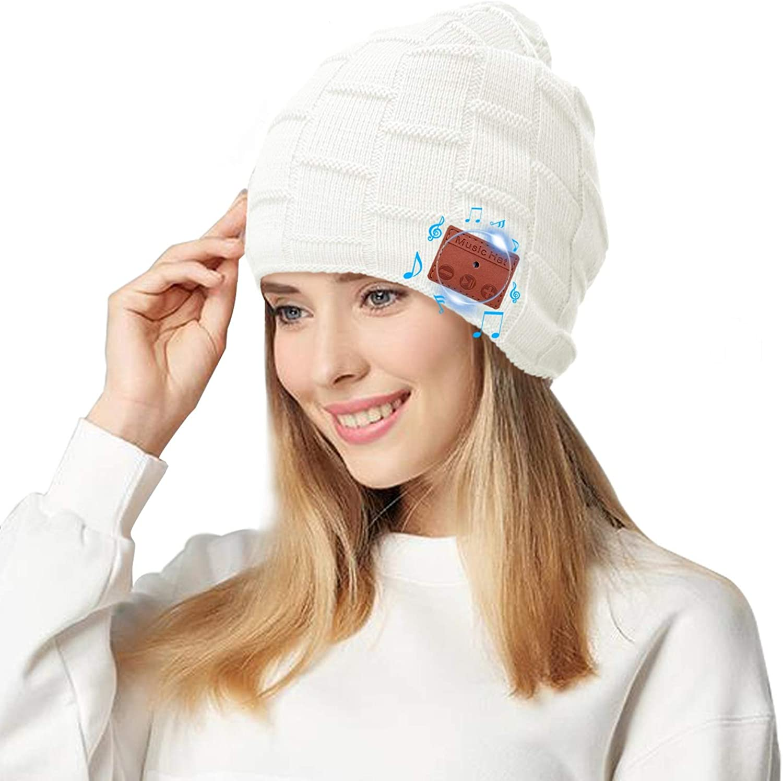 Fairwin Bluetooth Beanie Hat, Smart Wireless Music Beanie for Men and Women, Cashmere Warm Ski Music Hat Knit Gift Cap...