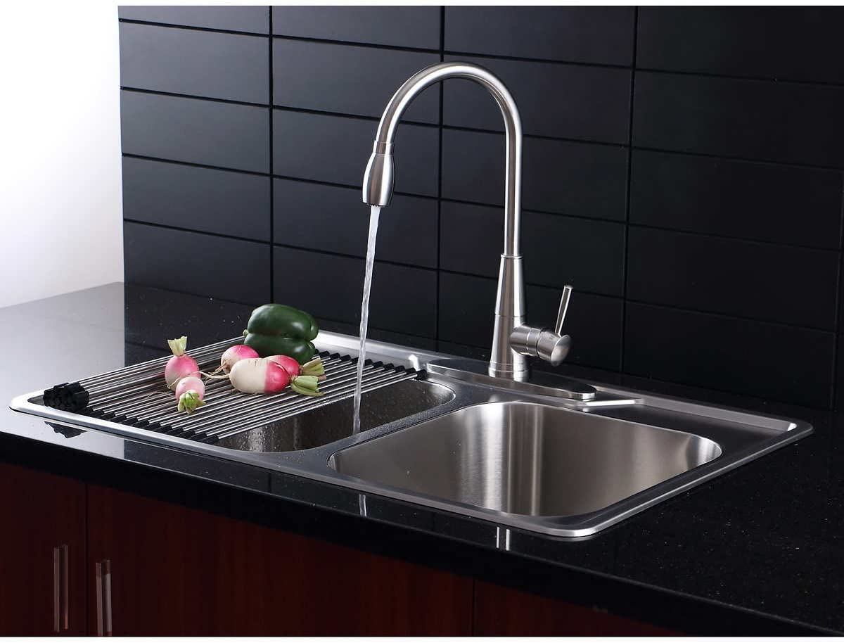 "AFA Stainless 12"" Kitchen Sink and Pull Down Faucet Combo"