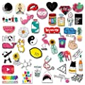Teen Girls Cute Cartoon Laptop Stickers Car Skateboard Motorcycle Bicycle Luggage Guitar Bike Decal 45pcs Pack