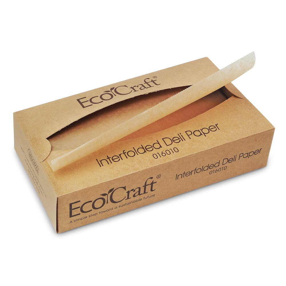 Box of 500 Bagcraft 016010 EcoCraft Interfolded Soy Wax Deli Sheets 10w x 10 3//4l Case of 12 Boxes