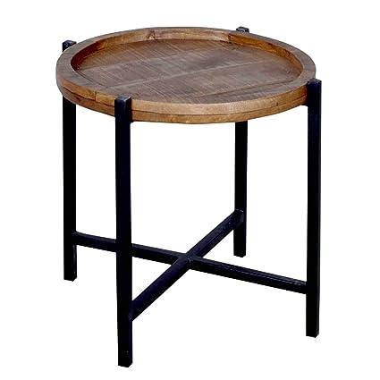 Tavolino Rotondo Da Salotto Antico.Bassano Tavolino Rotondo Da Salotto Omaha Struttura In Metallo