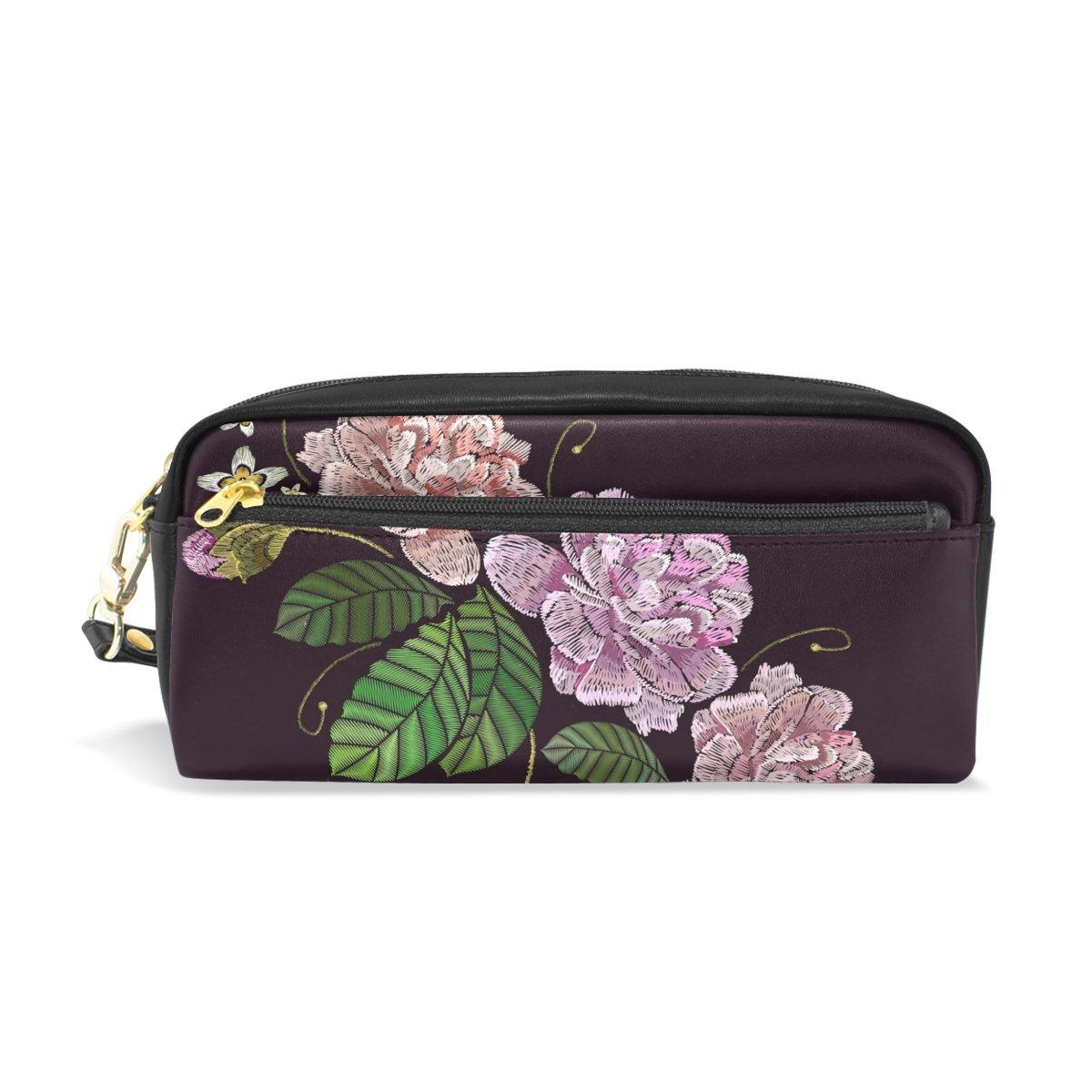 Ahomy Estuches para lápices de rosas con doble cremallera, bolsa ...