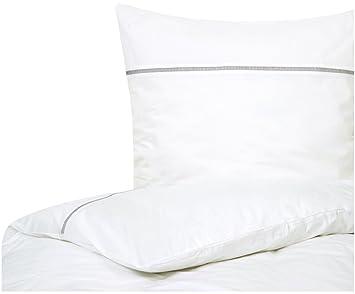 Port Maine Perkal Bettwäsche Mari Mit Hohlsaumstickerei In Weiß Und