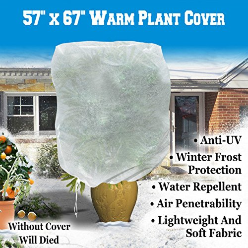 Frost Bag - Warm Worth Plant Cover And Plant Protecting Bag For Frost Protection, Multi Sizes For Your Choice (57''x67'')