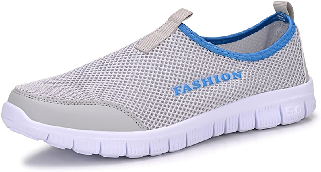 c971093e3ed4c Sibba Men's & Women's Runing Shoes Breathable Mesh Slip-on Sneakers for  Walking Jogging Outdoor