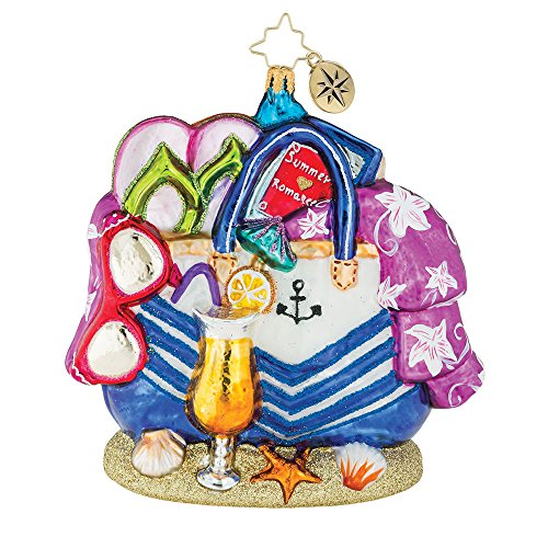 Christopher Radko Beach Bag Bounty Christmas Ornament by Christopher Radko