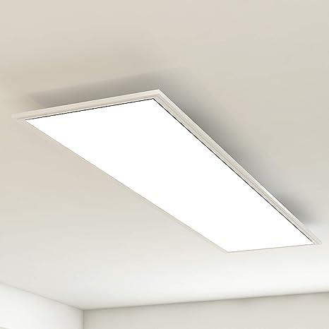 Briloner Leuchten – Panel de luz de techo, lámpara de techo o salón, 38W, rectangular, blanco, 119,5 cm