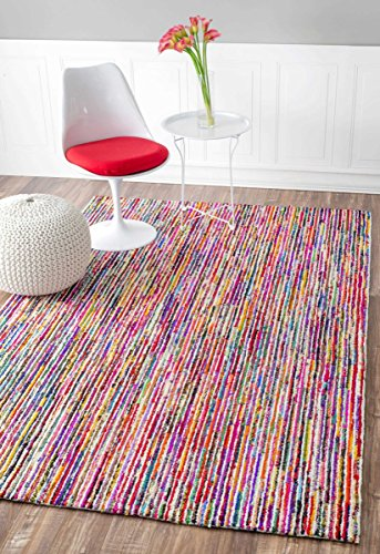 nuLOOM Hand Tufted Cotton Candy Stripes Area Rugs, - Candy Stripe Rug