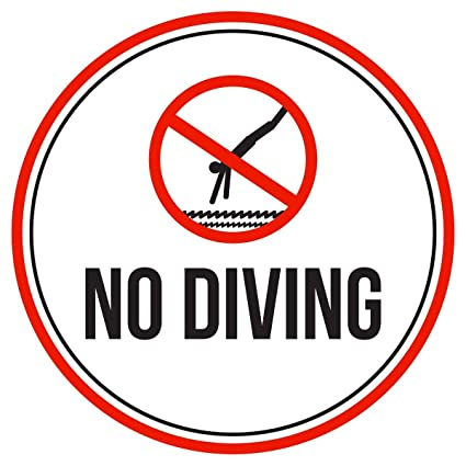 Amazon.com : Eletina Case Wall Signs Signage No Diving ...