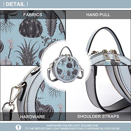 Totes Bag PU Shoulder for Messenger Bag Satchel Handbag Gril Bag 1810 Miss Cute Leather Round blue Lulu Modell fqBEwx6tUP
