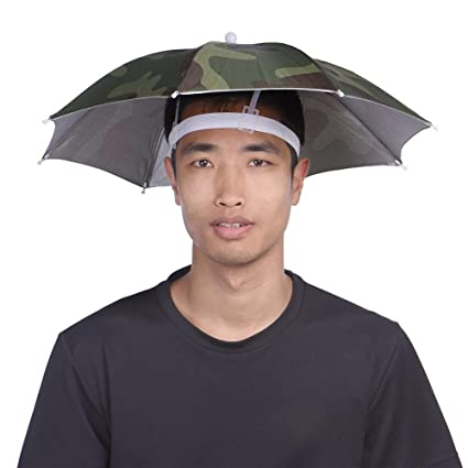6a14896633671 Amazon.com  Umbrella Travel Cap Rain Rain Gear Head Umbrella Hat Cap For Out  Door Camping Traveling Foldable Umbrellas Fishing Umbrella Headwear  Toys    ...