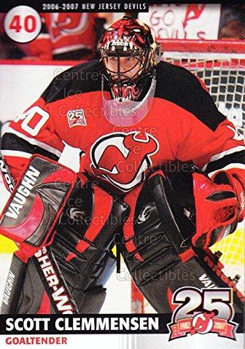 ((CI) Scott Clemmensen Hockey Card 2006-07 New Jersey Devils Team Issue 4 Scott Clemmensen)