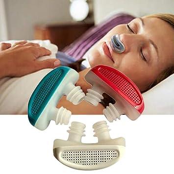 Ouken 1pc Anti ronquidos Dispositivos ronquidos 2-en-1 ronquido tapón y respiración Aire purificador Nariz respiraderos Nasal dilatador Detener ronquidos ...