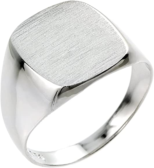 350075a24e0 Men's 925 Sterling Silver Engravable Square Top Signet Ring
