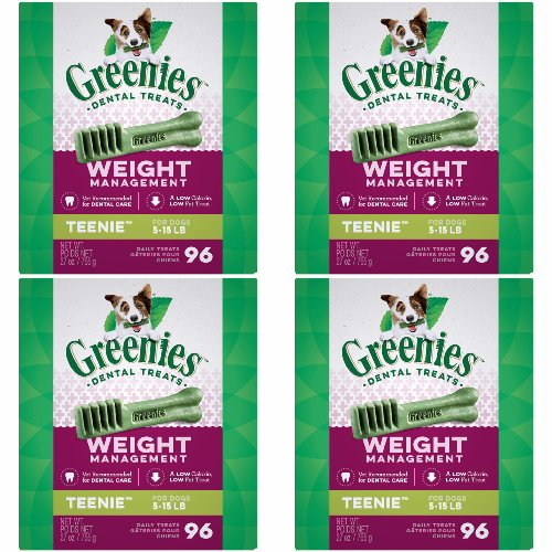 Greenies Weight Management 4 Mega 27oz Tubs 108oz 384 Bones Teenie by Greenies