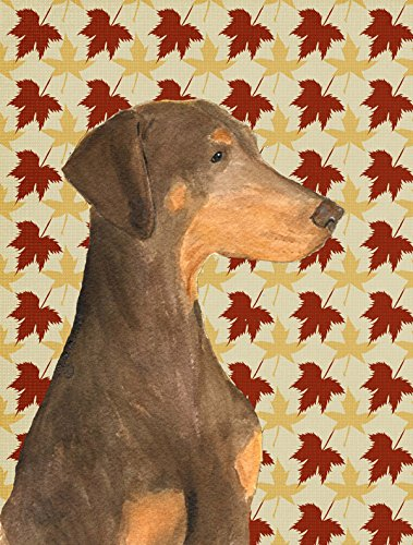 Caroline's Treasures SS4377GF Doberman Fall Leaves Portrait Flag, Small, Multicolor Review