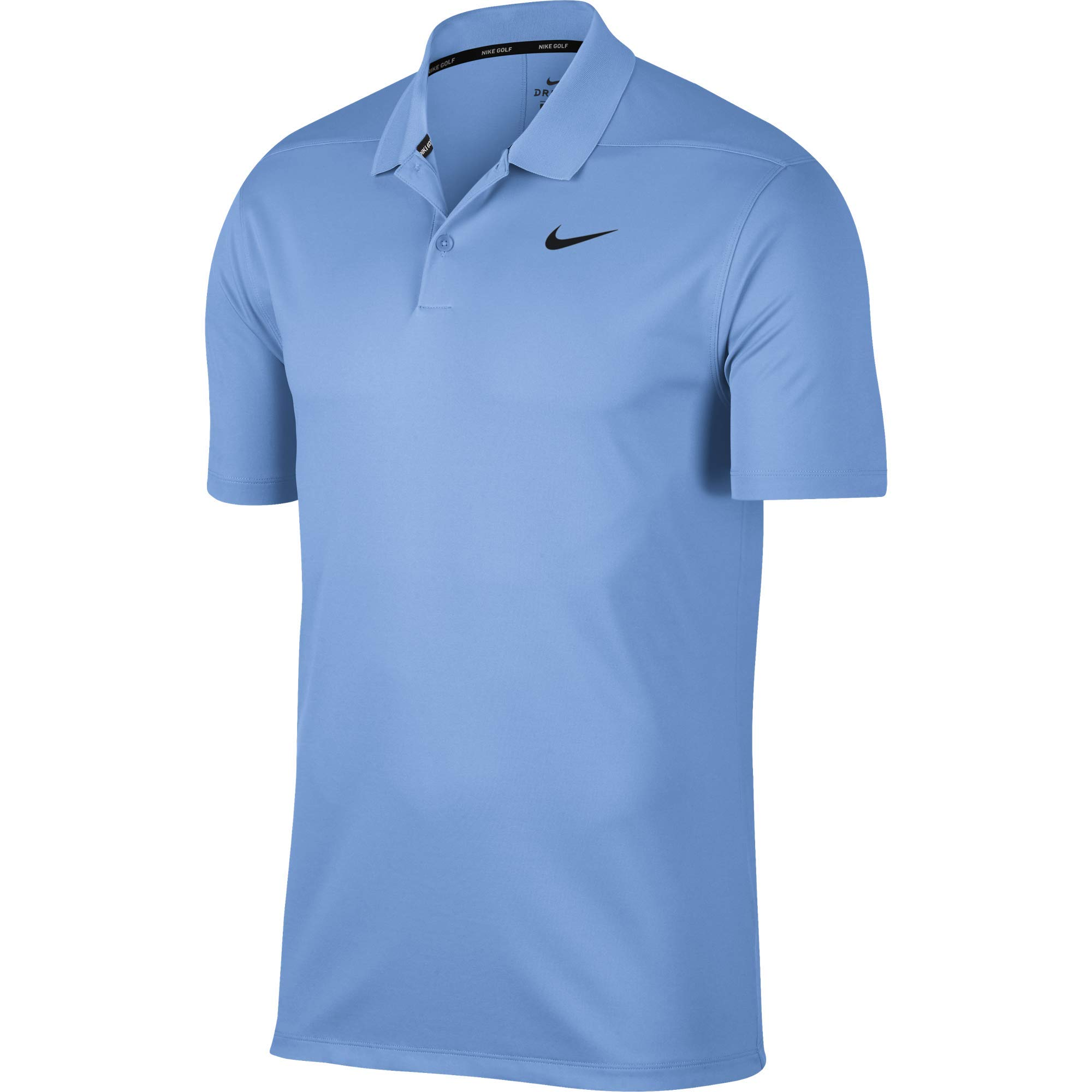 Nike Men's Dry Victory Polo Solid Left Chest, University Blue/Black, Large by Nike