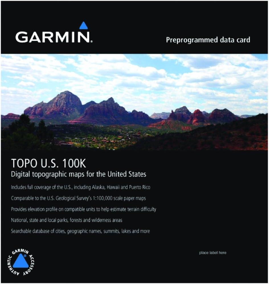 Garmin Topo USA 100K - Mapas para GPS, cobertura geográfica Estados Unidos: Amazon.es: Electrónica