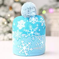 LED Knitted Christmas Hat Christmas Knitted Hat Beanie Knit Cap Winter Snow Hat Xmas Gift for Unisex Children Adults Kids Baby