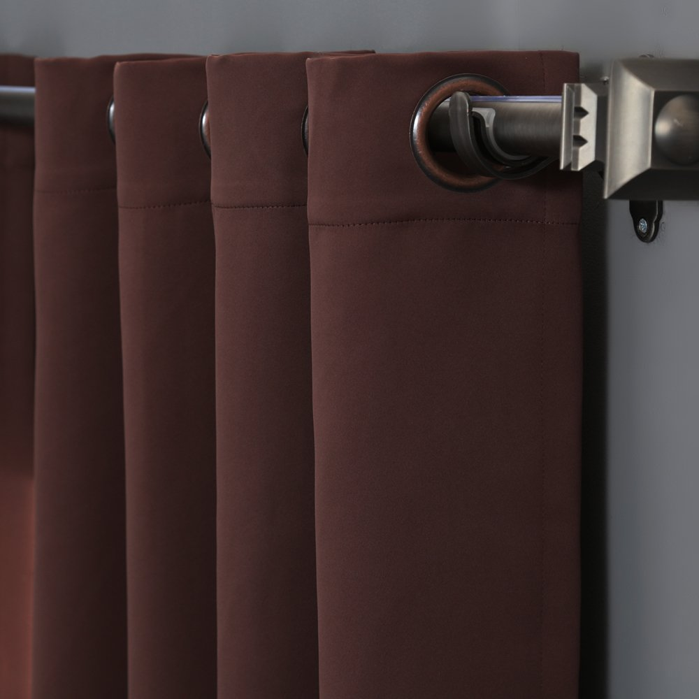 Amazon.com: RHF Thermal Insulated Blackout Patio Door Curtain Panel,  Sliding Door Curtains, Wide Curtains: 100W By 84L Inches Chocolate: Home U0026  Kitchen