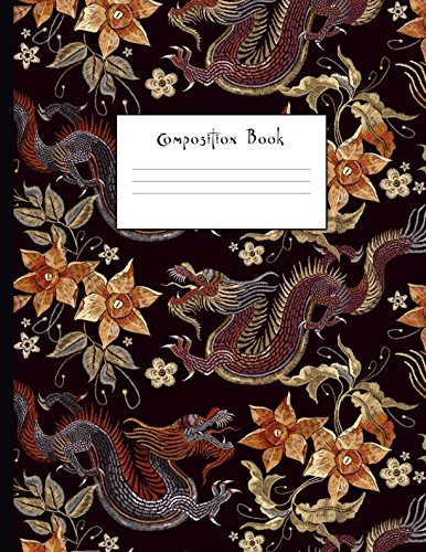 Composition Book: Japanese Style Dragon College Ruled Notebook for Taking Notes Journaling School or Work for Girls