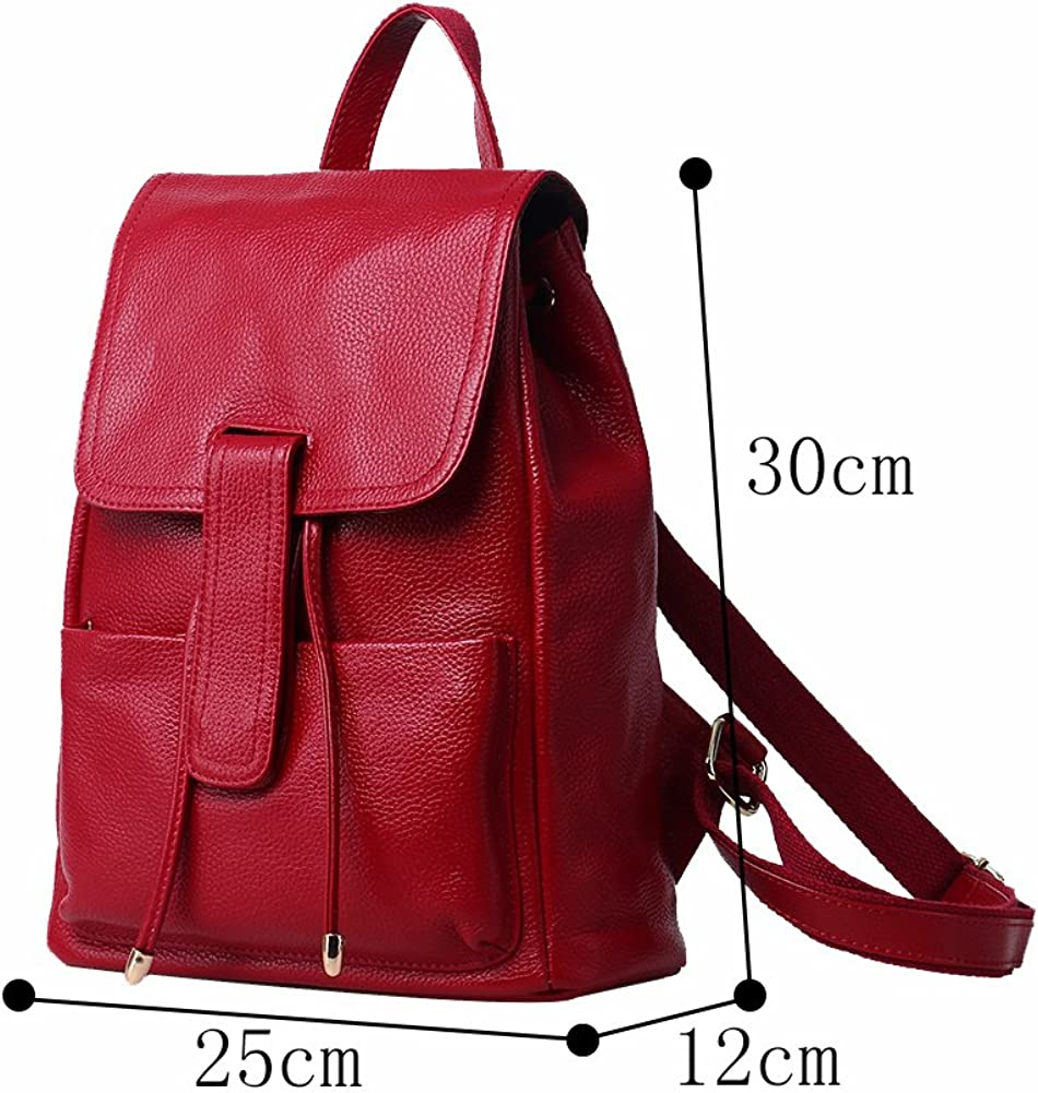 Genda 2Archer Lovely Girls Leather Backpack Drawstring Cute School Bag
